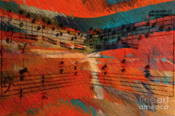 Digital Art - Orange Intermezzo by Lon Chaffin