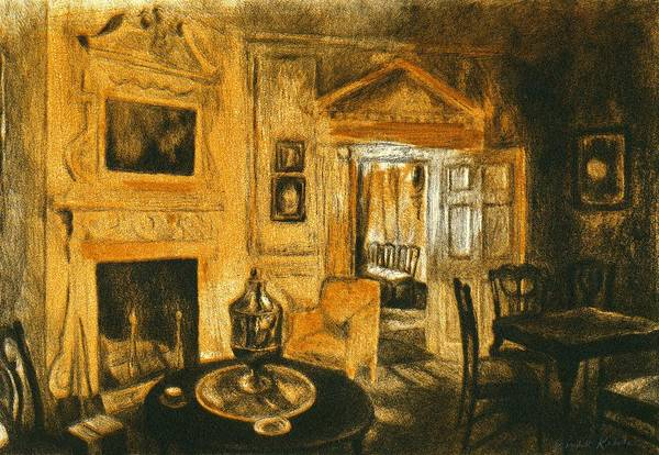 Drawing - Orange Light At Mount Vernon by Kendall Kessler