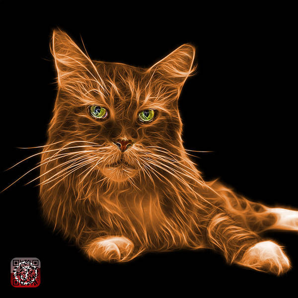 Painting - Orange Maine Coon Cat - 3926 - Bb by James Ahn