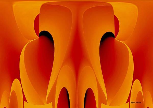 Mixed Media - Orange Mask by Rafael Salazar