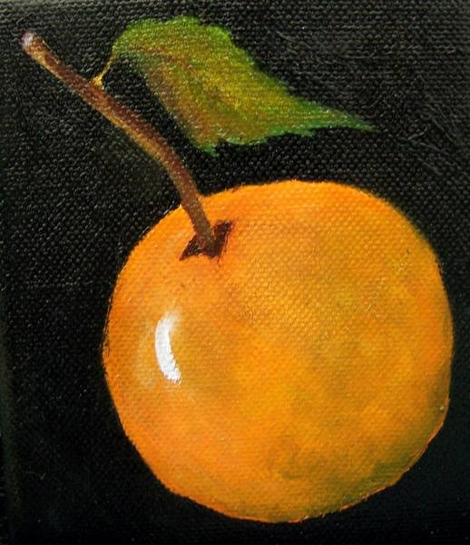 Painting - Orange Miniature Sold by Susan Dehlinger