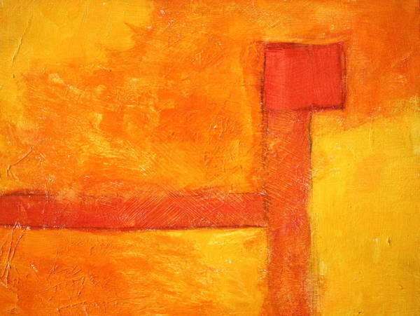 Non Representational Painting - Orange by Nancy Merkle