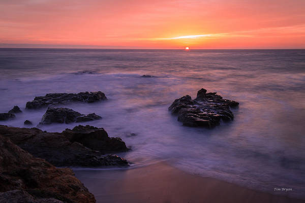 Photograph - Orange October Sky .... Cambria by Tim Bryan