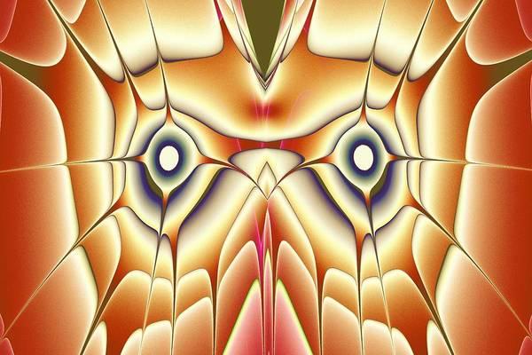 Digital Art - Orange Owl by Anastasiya Malakhova