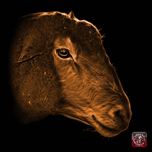 Digital Art - Orange Polled Dorset Sheep - 1643 F by James Ahn
