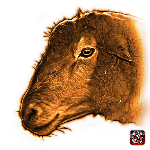 Digital Art - Orange Polled Dorset Sheep - 1643 Fs by James Ahn