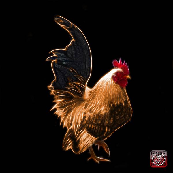 Digital Art - Orange Rooster Pop Art - 4602 - Bb - James Ahn by James Ahn