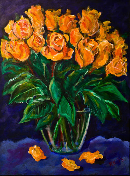 Painting - Orange Roses by Maxim Komissarchik