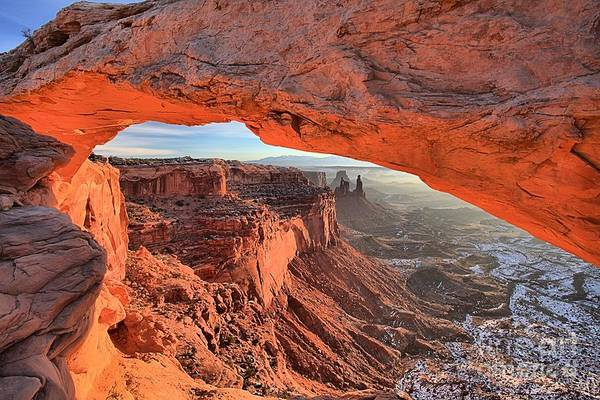 Photograph - Orange Sandstone Morning by Adam Jewell