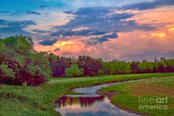 Photograph - Orange Skies Over Cayuga by Jim Lepard