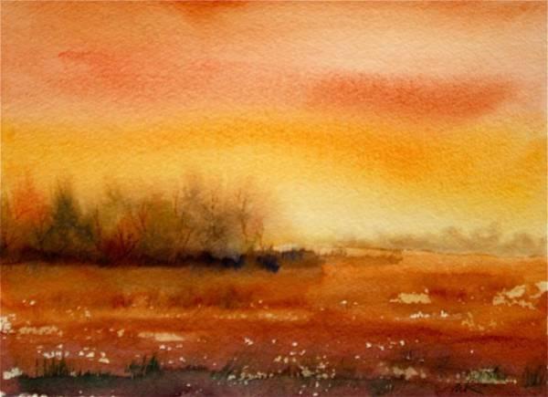 Painting - Orange Sky by William Renzulli