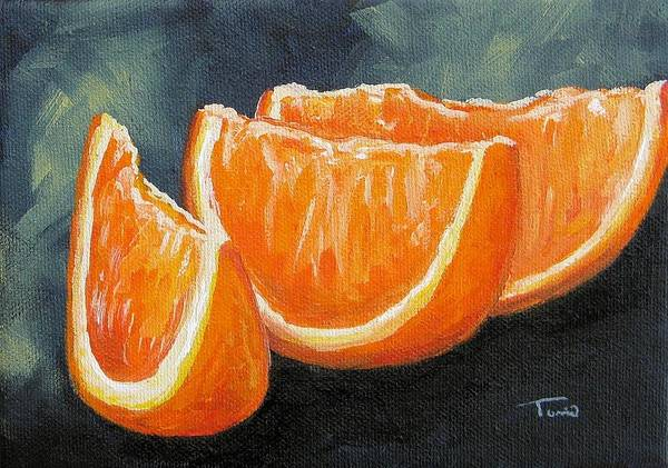 Wall Art - Painting - Orange Slices by Torrie Smiley