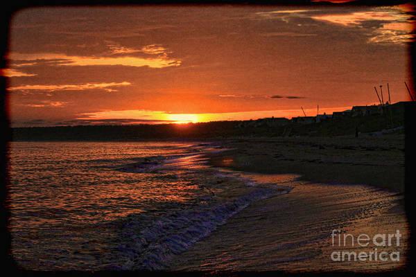 Photograph - Orange Sunrise Virginia Beach by Jeff Breiman