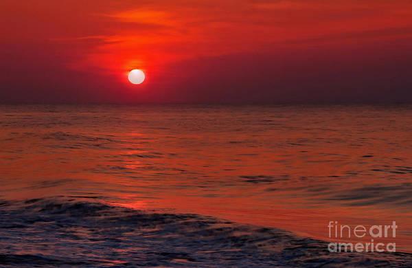 Photograph - Orange Sunset by Jeff Breiman