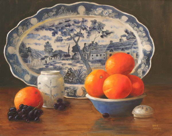Oranges And Platter Art Print