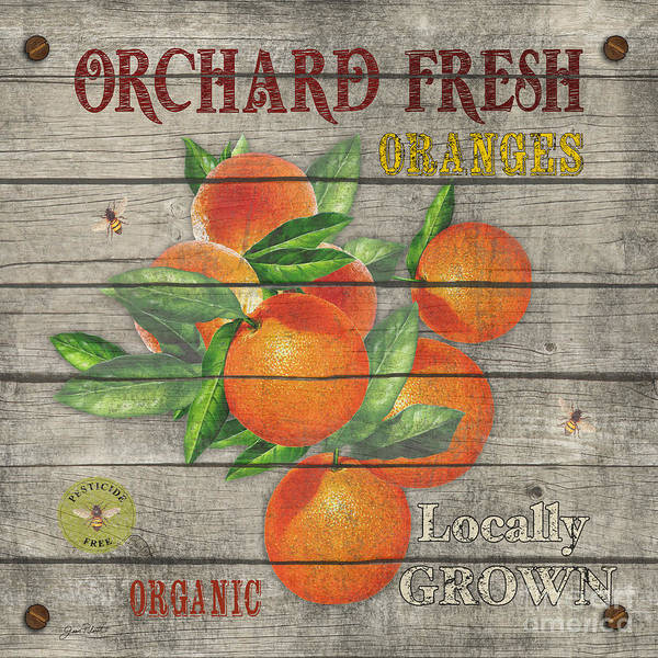 Orchard Painting - Oranges-jp2677 by Jean Plout