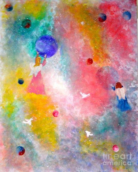 Painting - Orb And Angels by Denise Tomasura