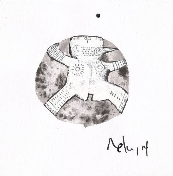 Outsider Wall Art - Drawing - Orbis No. 15 by Mark M  Mellon