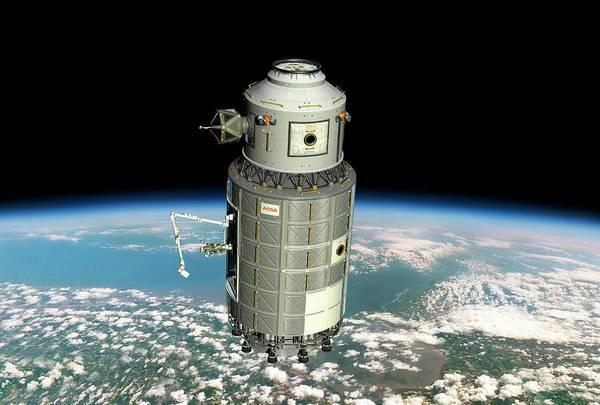 Earth Orbit Photograph - Orbital Maintenance Platform by Walter Myers