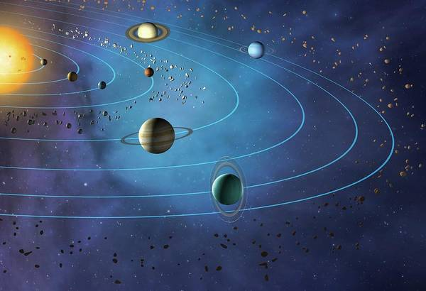 Wall Art - Photograph - Orbits Of Planets In The Solar System by Mark Garlick