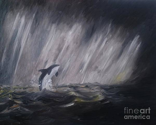 Painting - Orca by Abbie Shores