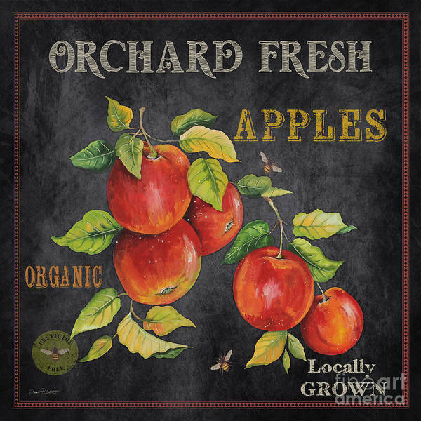 Apple Orchard Painting - Orchard Fresh Apples-jp2638 by Jean Plout