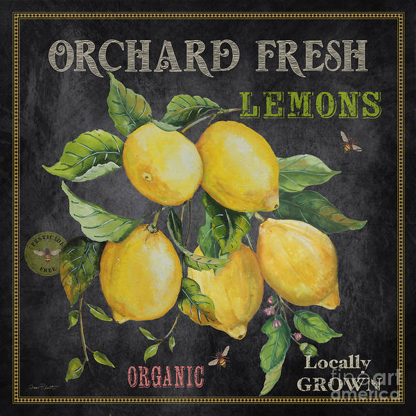 Wall Art - Painting - Orchard Fresh Lemons-jp2679 by Jean Plout