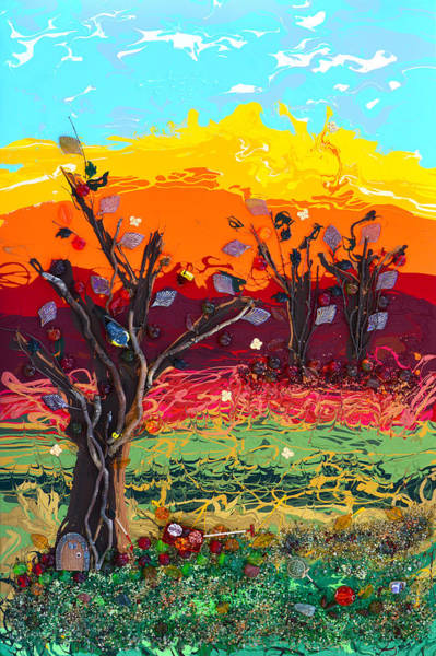 Wall Art - Painting - Orchard Harvest by Donna Blackhall