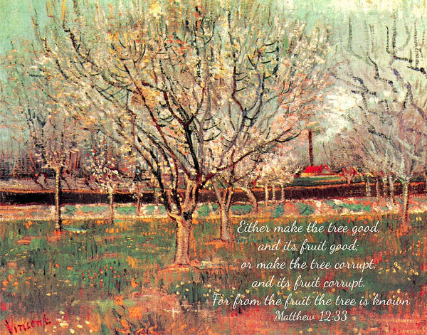 Digital Art - Orchard In Blossom Plum Trees By Van Gogh by Denise Beverly