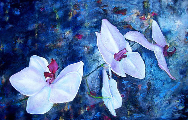 Wall Art - Painting - Orchid Blue by Laura Pierre-Louis