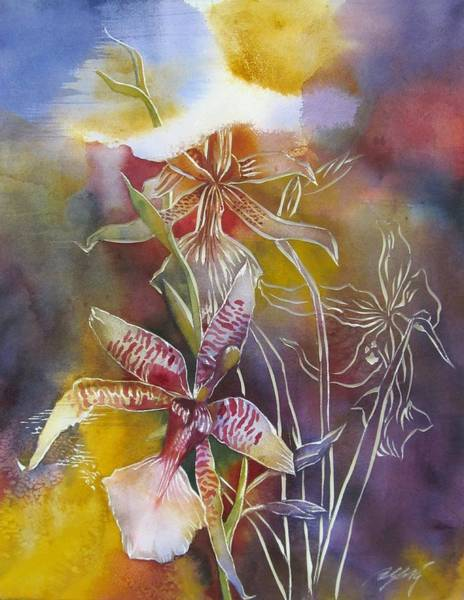Painting - Orchid For The New Year by Alfred Ng