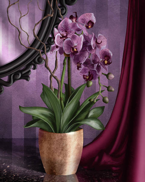 Glazed Wall Art - Digital Art - Orchid I by April Moen