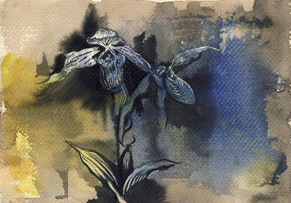 Painting - Orchid In Blues by Alfred Ng