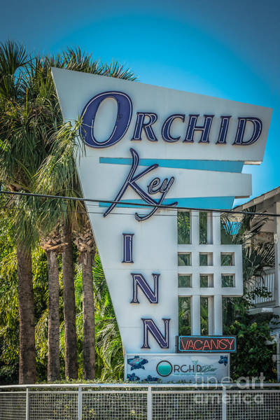 Excess Photograph - Orchid Inn Sign Key West - Hdr Style by Ian Monk