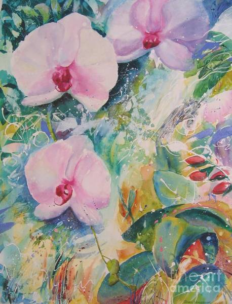 Painting - Orchid Spray by John Nussbaum