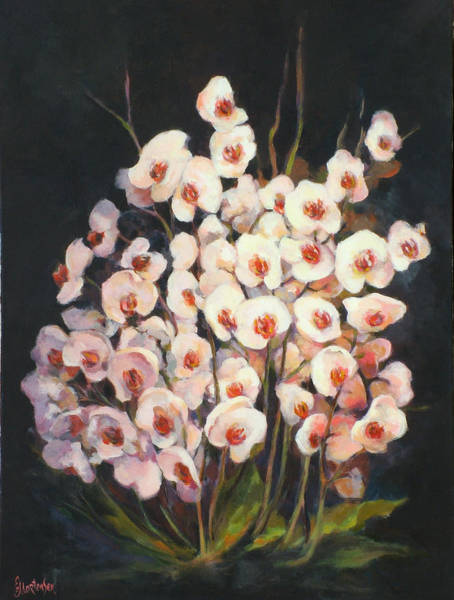 Wall Art - Painting - Orchids 2010 by Ekaterina Mortensen