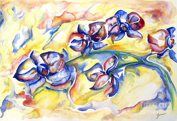 Wall Art - Painting - Orchids In Bloom by Jen Callison