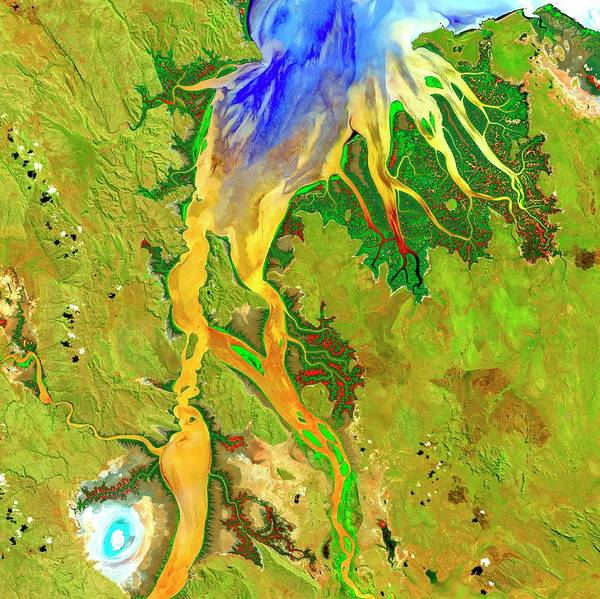 Photograph - Ord River Estuary by Us Geological Survey/science Photo Library
