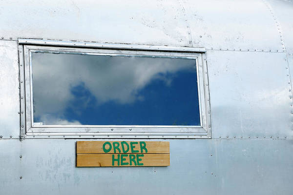 Catskills Photograph - Order Here Sign On A Vintage Trailer by Julien Mcroberts