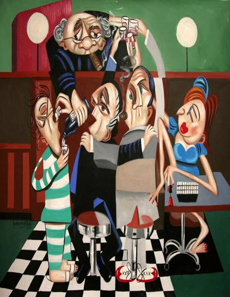 Defendant Painting - Order In The Court Side Bar by Anthony Falbo