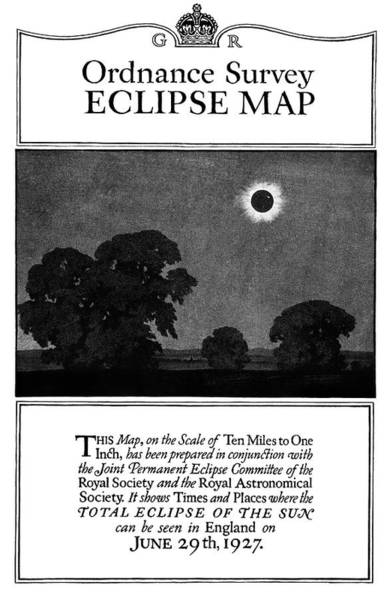 Wall Art - Photograph - Ordnance Survey Eclipse Map Cover by Royal Astronomical Society/science Photo Library