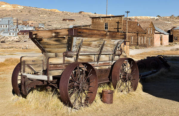 Bodie Ghost Town Wall Art - Photograph - Ore Wagon by Kathleen Bishop