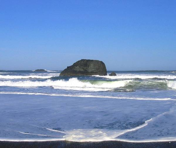Whitecaps Photograph - Oregon Coast Seascape by Will Borden