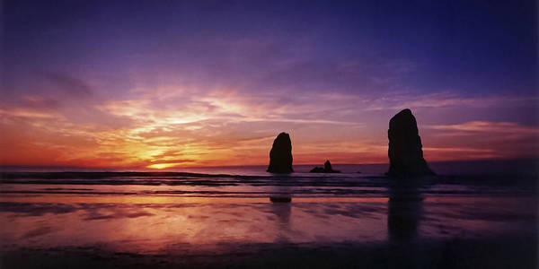 Photograph - Oregon Coast Sunset by Wes and Dotty Weber