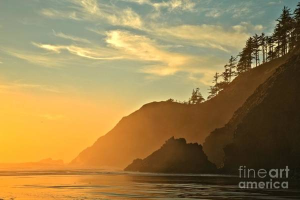 Photograph - Oregon Coastal Glow by Adam Jewell