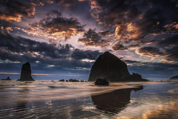 Wall Art - Photograph - Oregon Coastal Sunset by Andrew Soundarajan