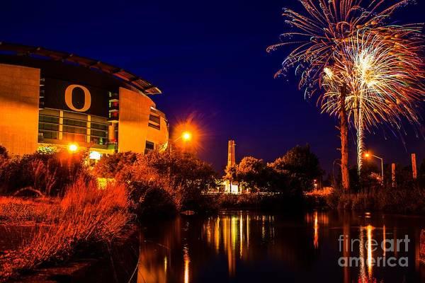 Photograph - Oregon Fireworks 1 by Michael Cross