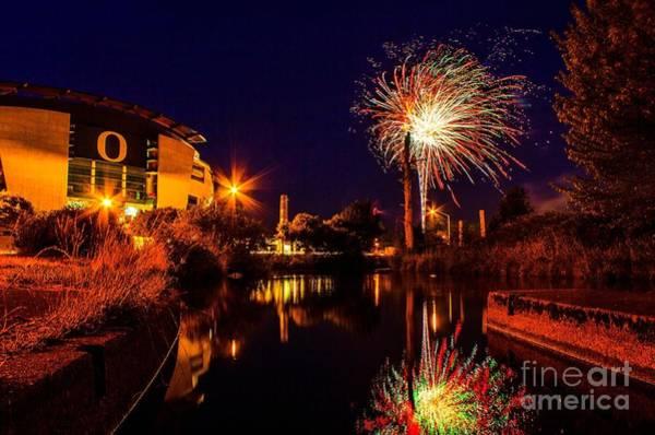 Photograph - Oregon Fireworks 2 by Michael Cross
