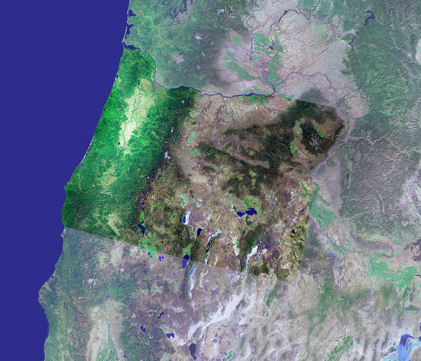 Us West Coast Photograph - Oregon by Mda Information Systems/science Photo Library