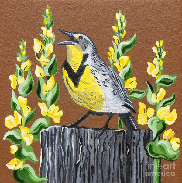 Meadowlark Painting - Oregon Meadowlark by Jennifer Lake